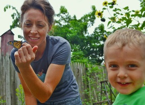 sid, mom, and butterfly